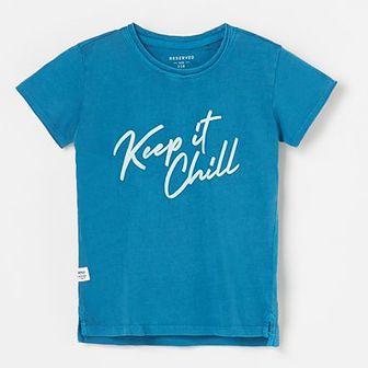 Reserved - T-shirt z napisem - Niebieski