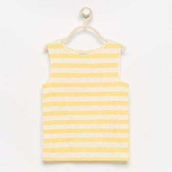 Reserved - Bluzka z kopertowymi plecami - Żółty