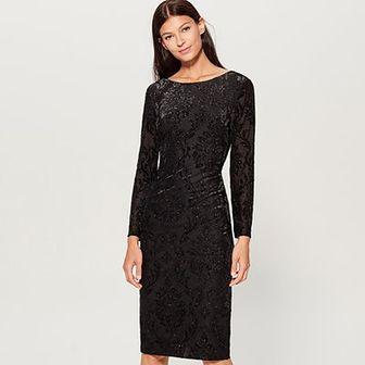 Mohito - Sukienka z tkaniny devore - Czarny