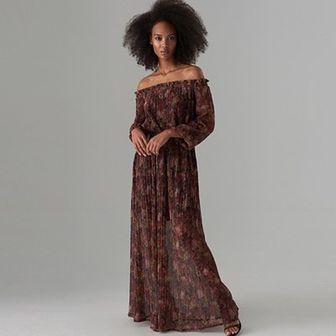 Szyfonowa maxi sukienka