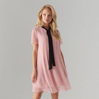 Sukienka z kontrastowym wiązaniem