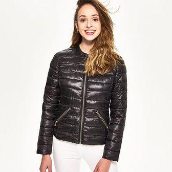 Sinsay - Krótka pikowana kurtka - Czarny