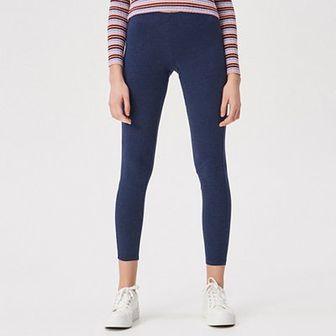 Sinsay - Bawełniane legginsy - Granatowy