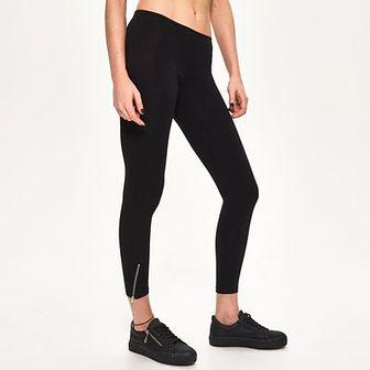 Sinsay - Bawełniane legginsy - Czarny