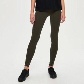 Sinsay - Bawełniane legginsy - Khaki