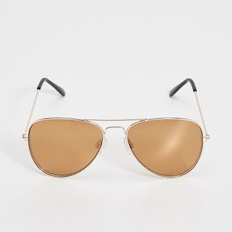 Sinsay - Okulary przeciwsłoneczne awiatorki - Beżowy