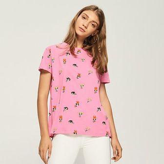 Sinsay - T-shirt atomówki - Różowy