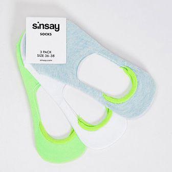 Sinsay - 3 pary stopek - Turkusowy