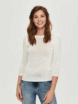 Sinsay - Lekki sweter - Kremowy