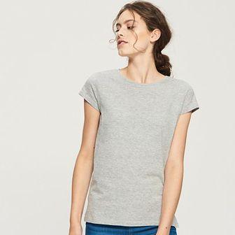 Sinsay - T-shirt basic - Jasny szar