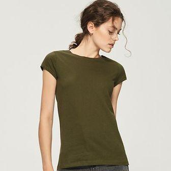 Sinsay - T-shirt basic - Khaki