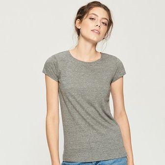 Sinsay - T-shirt basic - Szary