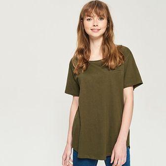 Sinsay - T-shirt oversize - Khaki