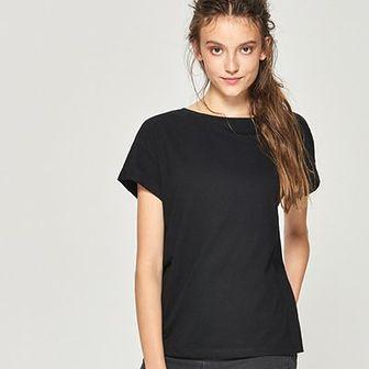 Sinsay - T-shirt basic - Czarny