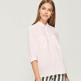 Sinsay - Luźna koszula - Różowy