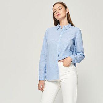 Sinsay - Koszula z perłową aplikacją - Niebieski
