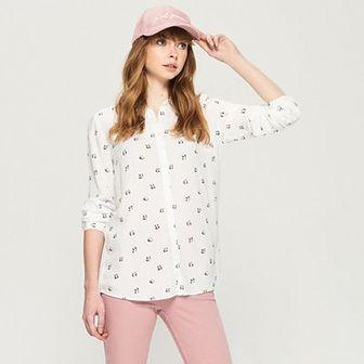 Sinsay - Wzorzysta koszula - Biały