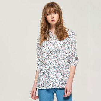 Sinsay - Wzorzysta koszula - Niebieski