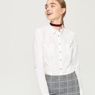 Sinsay - Klasyczna koszula - Biały