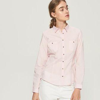 Sinsay - Klasyczna koszula - Różowy