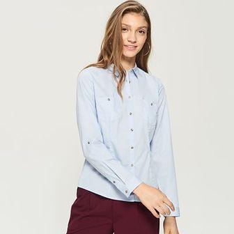 Sinsay - Klasyczna koszula - Niebieski