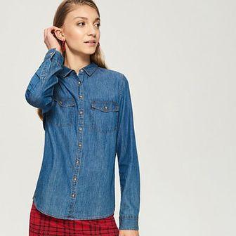 Sinsay - Jeansowa koszula - Niebieski