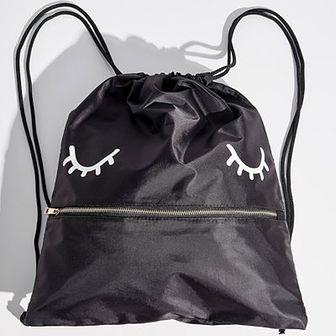 Sinsay - Plecak worek z zamkiem - Czarny