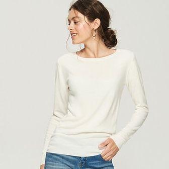 Sinsay - Sweter basic - Kremowy