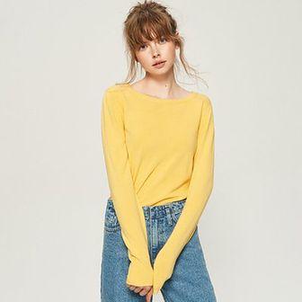 Sinsay - Sweter basic - Żółty