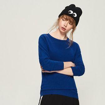 Sinsay - Sweter basic - Niebieski
