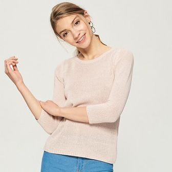 Sinsay - Sweter basic - Różowy