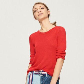 Sinsay - Sweter basic - Czerwony