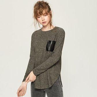 Sinsay - Sweter z kieszenią - Szary