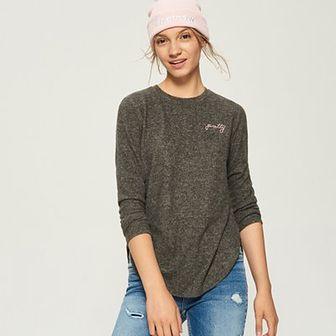 Sinsay - Sweter z haftowanym napisem - Szary