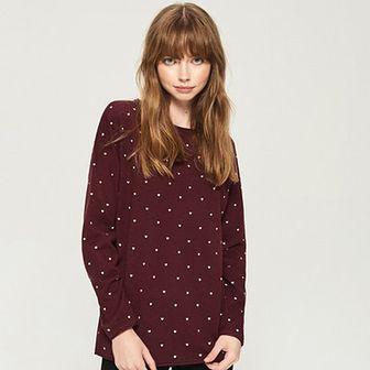 Sinsay - Dzianinowy sweter - Fioletowy