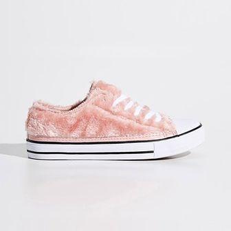 Sinsay - Pluszowe buty - Różowy