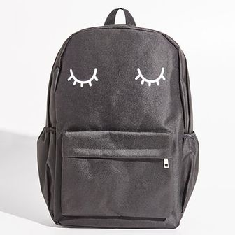 Sinsay - Szkolny plecak z nadrukiem - Czarny