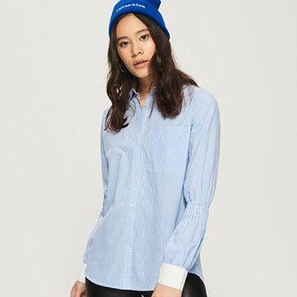 Sinsay - Koszula w prążki - Niebieski