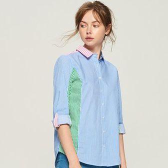 Sinsay - Koszula z łączonych materiałów - Wielobarwn