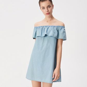 Denimowa sukienka hiszpanka