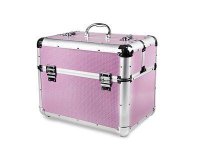 Kuferek kosmetyczny duży XXL różowy