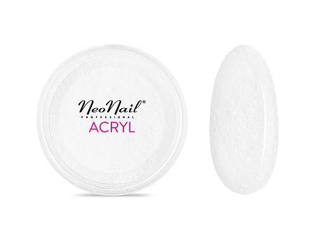 Proszek akrylowy 5 g - biały z drobinkami