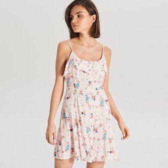 Kwiatowa sukienka na ramiączkach