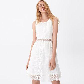 House - Ażurowa sukienka - Biały